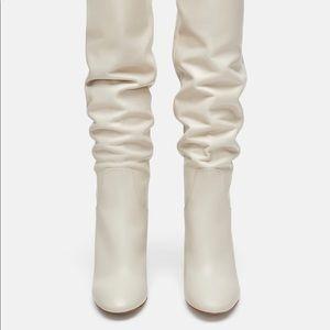 Zara - white tall boots